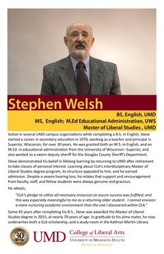Stephen Welsh alumni