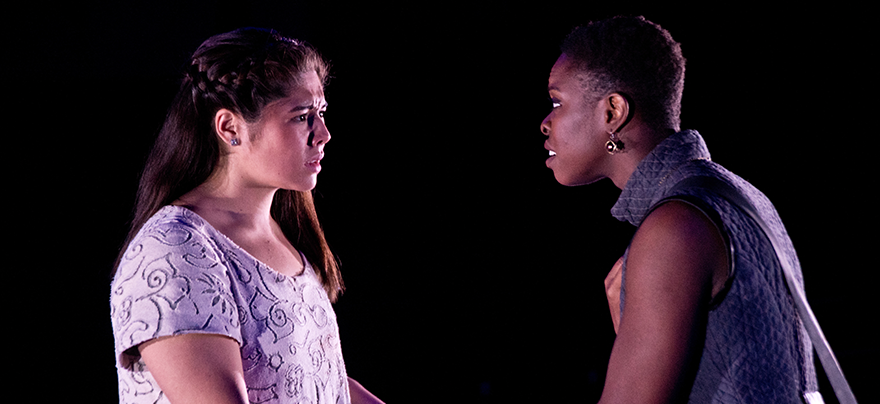 two girls in a Scene from Antigone