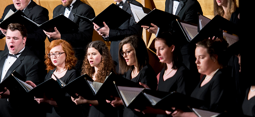 University Singers ensemble performing